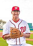 28 February 2016: Washington Nationals pitcher Joe Ross poses for his Spring Training Photo-Day portrait at Space Coast Stadium in Viera, Florida. Mandatory Credit: Ed Wolfstein Photo *** RAW (NEF) Image File Available ***