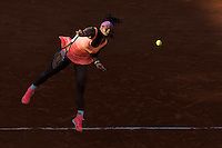 June 4, 2015: Serena Williams of United States of America in action in a Semifinal match against Timea Bacsinszky of Switzerland on day twelve of the 2015 French Open tennis tournament at Roland Garros in Paris, France. Williams won 46 63 60. Sydney Low/AsteriskImages