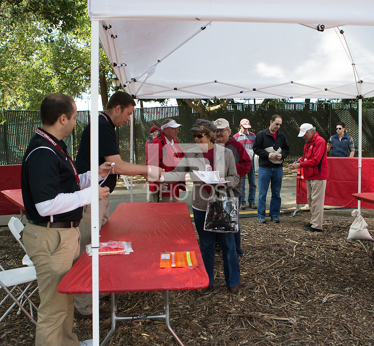 Stanford, CA - April15, 2017:  Tailgate Party at Cardinal and White Spring Game at Cagan Stadium.
