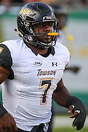 Tampa, FL - September 2, 2016: Towson Tigers running back Darius Victor (7) warmup during game between Towson and USF at the Raymond James Stadium in Tampa, FL. September 2, 2016.  (Photo by Elliott Brown/Media Images International)