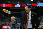 30 December 2015: Clemson head coach Brad Brownell. The University of North Carolina Tar Heels hosted the Clemson University Tigers at the Dean E. Smith Center in Chapel Hill, North Carolina in a 2015-16 NCAA Division I Men's Basketball game. UNC won the game 80-69.