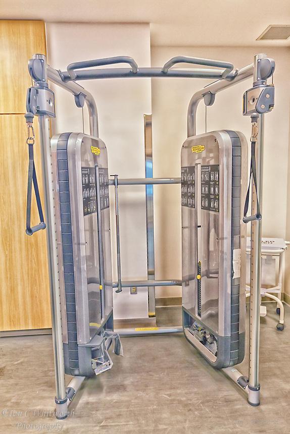 Oakville Trafalgar Memorial Hospital exercise equipment.
