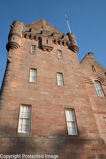 Broddick Castle on the Isle of Arran, Scotland