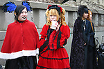 A wide variety of &quot;costume play&quot; getups  from Japanese manga, anime,  imitations of favorite pop stars or combinations in between can be witnessed very Sunday in Harajuku, Tokyo's fashion quarter. Casual observers believe that cosplay is a reaction to  rigid rules of Japanese society but since so many cosplayers congregate in Harajuku and Aoyama - Tokyo headquarters of Fendi, Hanae Mori and Issey Miyake, others consider it is a reaction to high fashion. Whatever the reason cosplay aficionados put a tremendous amount of effort into their costumes every Sunday. You can't help but wonder what they wear on Monday morning..