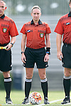 06 September 2015: Referee Tori Penso. The University of North Carolina Tar Heels played the University of Southern California Trojans at Koskinen Stadium in Durham, NC in a 2015 NCAA Division I Women's Soccer match. UNC won the game 2-1.