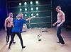 Yen<br /> by Anna Jordan <br /> at The Royal Court Theatre, London, Great Britain <br /> 22nd January 2016 <br /> Press Photocall <br /> <br /> Jake Davies as Bobbie<br /> <br /> Alex Austin as Hench <br /> <br /> Sian Brecken as Maggie<br /> <br /> <br /> Photograph by Elliott Franks <br /> Image licensed to Elliott Franks Photography Services