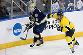 Riley Sheahan (Notre Dame - 4), Fraser Allen (Merrimack - 2) - The University of Notre Dame Fighting Irish defeated the Merrimack College Warriors 4-3 in overtime in their NCAA Northeast Regional Semi-Final on Saturday, March 26, 2011, at Verizon Wireless Arena in Manchester, New Hampshire.