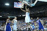 22 December 2012: North Carolina's Leslie McDonald (2) shoots a layup. The University of North Carolina Tar Heels played the McNeese State University Cowboys at the Dean E. Smith Center in Chapel Hill, North Carolina in an NCAA Division I Men's college basketball game. UNC won the game 97-63.