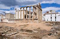 Temple of Diana, Roman Forum, 1st C BC, Merida, Spain