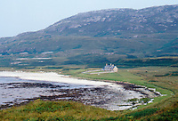 The bothy is situated in an idyllic positon on the island of Jura overlooking a sandy beach
