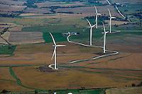 aerial photograph wind turbines near Council Bluffs, Iowa
