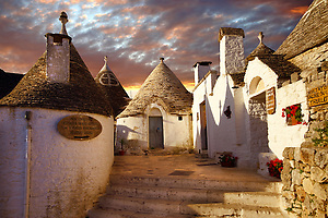 Picture of the Trulli houses of Alberobell Italy