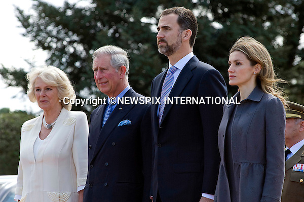 "PRINCE CHARLES AND CAMILLA, DUCHESS OF CORNWALL.WELCOMED BY CROWN PRINCE FELIPE AND CROWN PRINCESS LETIZIA OF SPAIN.at the start of their three day tour of Spain, Palacio Del Pardo, Madrid_30/11/2011..Mandatory Credit Photo: ©Dias/NEWSPIX INTERNATIONAL..**ALL FEES PAYABLE TO: ""NEWSPIX INTERNATIONAL""**..IMMEDIATE CONFIRMATION OF USAGE REQUIRED:.Newspix International, 31 Chinnery Hill, Bishop's Stortford, ENGLAND CM23 3PS.Tel:+441279 324672  ; Fax: +441279656877.Mobile:  07775681153.e-mail: info@newspixinternational.co.uk"