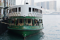The Star Ferry Company's &quot;Twinkling Star&quot; (built 1964) docked at the terminal in Central, Hong Kong