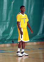 April 8, 2011 - Hampton, VA. USA; Jevon Thomas participates in the 2011 Elite Youth Basketball League at the Boo Williams Sports Complex. Photo/Andrew Shurtleff