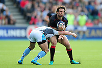 Marcelo Bosch of Saracens is tackled. European Rugby Champions Cup Quarter Final, between Saracens and Glasgow Warriors on April 2, 2017 at Allianz Park in London, England. Photo by: Patrick Khachfe / JMP