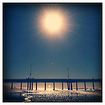 Sun over the Venice Pier on January 4, 2012.