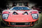 Red Ford GT40 classic American muscle car