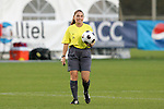 05 November 2008: Referee Sandra Serafini. Virginia Tech and Florida State University played to a 0-0 tie after two overtimes at Koka Booth Stadium at WakeMed Soccer Park in Cary, NC in a women's ACC tournament quarterfinal game.  Virginia Tech advanced to the semifinal round in penalty kicks, 4-2.