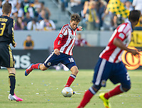 CARSON, CA - July 21, 2012: Chivas USA midfielder Blair Gavin (18) during the LA Galaxy vs Chivas USA match at the Home Depot Center in Carson, California. Final score LA Galaxy 3, Chivas USA 1.