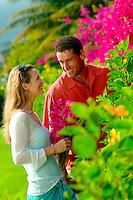 Happy Married Couple In The Garden