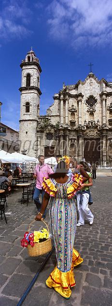 Cuba/La Havane: Place de la cathédrale San cristobal - Le marché