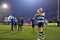 Ross Batty of Bath Rugby acknowledges the crowd after the match. Aviva Premiership match, between Bath Rugby and Northampton Saints on February 10, 2017 at the Recreation Ground in Bath, England. Photo by: Patrick Khachfe / Onside Images