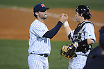 Ole Miss' Jake Morgan (44) is congratulated by Ole Miss' Miles Hamblin (24) against Tulane at Oxford-University Stadium in Oxford, Miss. on Friday, March 4, 2010.  Ole Miss won 5-1 to improve to 10-1.