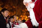City tree lighting and Santa visit