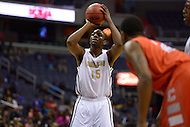 March 11, 2013  (Washington, DC)  Ballou's Brandon Boykin #15 shoots the ball during the inaugural D.C. State Athletics Championship at the Verizon Center March 11, 2013. Coolidge won 69-47.  (Photo by Don Baxter/Media Images International)