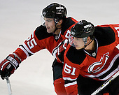 Joe Rooney and Benoit Mondou take part in the third session on Saturday, September 15, 2007 of the New Jersey Devils training camp on Rink 2 of the Richard E. Codey Arena at South Mountain in West Orange, New Jersey...
