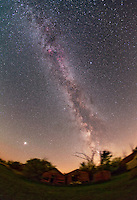 Milky Way galaxy in the summer. Any star that can be seen at night without aid of a telescope is part of the Milky Way.