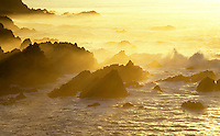 Sunset illuminates Carmel Highlands