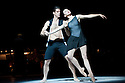 """LONDON, UK. American Ballet Theatre make a return to Sadler's Wells with two programmes of pieces. the mixed bill includes the UK premieres of Alexei Ratmansky's """"Seven Sonatas"""" and """"Everything Doesn't Happen at Once"""" by Benjamin Millepied. Isabella Boylston and Marcelo Gomes perform Everything Doesn't Happen At Once"""