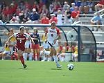 Ole Miss' Rafaelle Souza (6) vs. Louisiana-Lafayette's Sam Taylor (3) in college soccer action at the Ole Miss Soccer Stadium in Oxford, Miss. on Sunday, August 26, 2012. Rafaelle Souza delivered her fourth goal of the season in the 12th minute for Ole Miss (4-0).