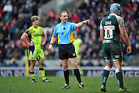 Referee Tim Wigglesworth. Aviva Premiership match, between Leicester Tigers and Sale Sharks on February 6, 2016 at Welford Road in Leicester, England. Photo by: Patrick Khachfe / JMP