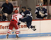 Nick Roberto (BU - 15), Matt Foley (Yale - 4), Patrick Spano (Yale - 30) The Boston University Terriers defeated the visiting Yale University Bulldogs 5-2 on Tuesday, December 13, 2016, at the Agganis Arena in Boston, Massachusetts.
