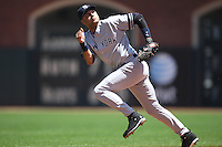 SAN FRANCISCO - June 24:  Derek Jeter of the New York Yankees plays defense during the game against the San Francisco Giants at AT&T Park in San Francisco, California on June 24, 2007. Photo by Brad Mangin
