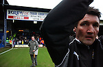 Luton Town 1 Leeds United 1, 26/01/2008. Kenilworth Road, League One. Mick Harford is unveiled as the new manager of Luton Town until the end of the season. He committed to stay at Luton despite the club being docked 30 points. Photo by Simon Gill.