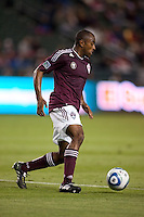 Colorado Rapids defender Marvell Wynne (22) moves with the ball. The Colorado Rapids defeated CD Chivas USA 1-0 at Home Depot Center stadium in Carson, California on Saturday March 26, 2011...