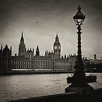 The Palace of Westminster is the meeting place of the House of Commons and the House of Lords, the two houses of the Parliament of the United Kingdom. Commonly known as the Houses of Parliament after its tenants, the Palace lies on the Middlesex bank of the River Thames in the City of Westminster, in central London.