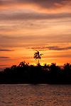 Sunset over Kampong Bay River, Kampot, Cambodia