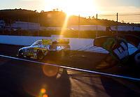 Nov 11, 2016; Pomona, CA, USA; NHRA funny car driver John Hale during qualifying for the Auto Club Finals at Auto Club Raceway at Pomona. Mandatory Credit: Mark J. Rebilas-USA TODAY Sports