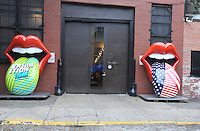 NEW YORK, NY - OCTOBER 27: The Rolling Stones unveil giant art installation in anticipation of Exhibitionism New York opening at Industria Studios on October 27, 2016 in New York City. 'EXHIBITIONISM' opens in New York November 12, 2016 and runs through March 12, 2017. Photo by John Palmer/ MediaPunch
