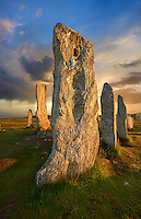 .Calanais Neolithic Standing Stone (Tursachan Chalanais) , Isle of Lewis, Outer Hebrides, Scotland.