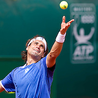 David FERRER (ESP) against Rafael NADAL (ESP) in the semi-finals. Rafael Nadal beat David Ferrer 6-2 6-3..International Tennis - 2010 ATP World Tour - Masters 1000 - Monte-Carlo Rolex Masters - Monte-Carlo Country Club - Alpes-Maritimes - France..© AMN Images, Barry House, 20-22 Worple Road, London, SW19 4DH.Tel -  + 44 20 8947 0100.Fax - + 44 20 8947 0117