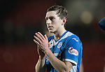 St Johnstone v Stenhousemuir&hellip;21.01.17  McDiarmid Park  Scottish Cup<br />Blair Alston applauds the fans at full time<br />Picture by Graeme Hart.<br />Copyright Perthshire Picture Agency<br />Tel: 01738 623350  Mobile: 07990 594431