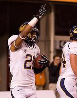 Keenan Allen of California celebrates after scoring a touchdown during the game against Utah at Rice-Eccles Stadium in Salt Lake City, Utah on October 27th, 2012.   Utah Utes defeated California, 49-27.