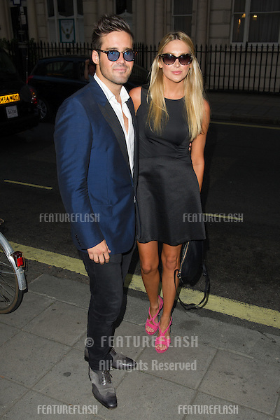 Spencer Matthews and Stephanie Pratt at the launch party for the Taylor Morris Eyewear Range, Chelsea, London. 05/09/2013 Picture by: Dave Norton / Featureflash
