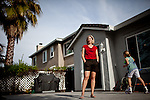 Carrie Miskawi poses for a portrait at her Folsom, California home, March 14, 2013. Miskawi and her family would like to move to a bigger home, but their struggling to find something on the market.